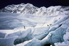 Uscita dall'Icefall, Everest sud